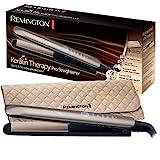 Remington S8590 Keratin Therapy Pro - Plancha de Pelo Profesional, Cerámica, Digital, Keratina, Aceite...