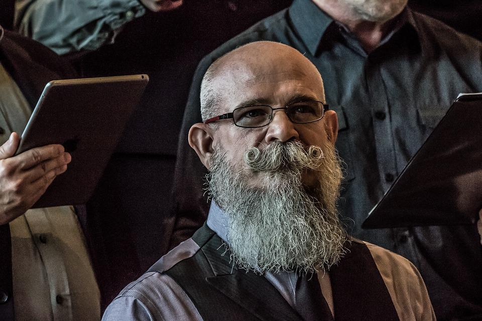 barba frondosa, barba larga