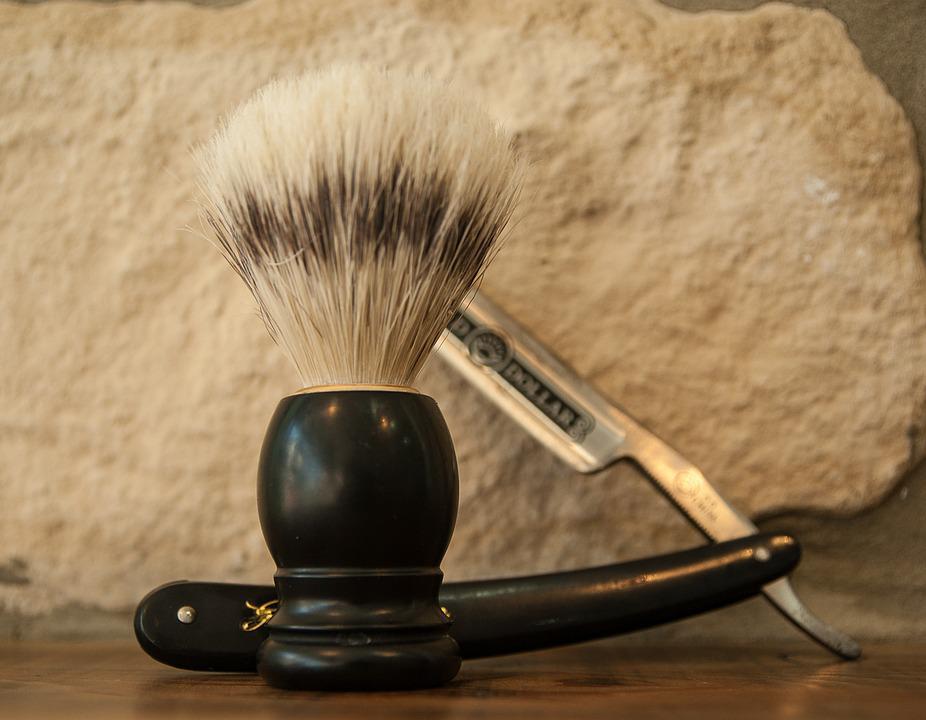 Brocha, cuchilla, barberia, accesorios barberia